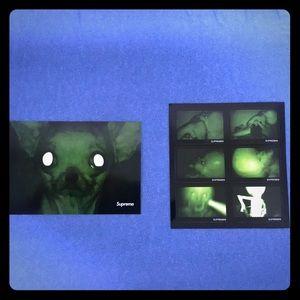 Supreme alien x Chihuahua stickers